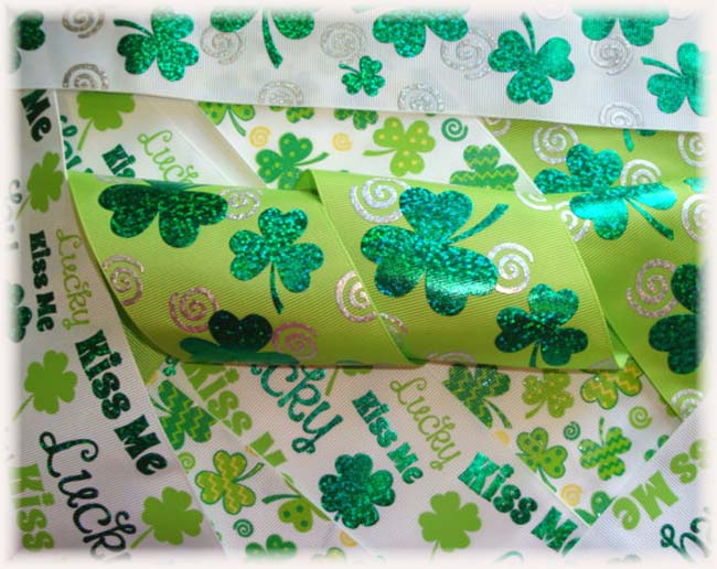 "OOAK LC5 GOODY BAG 3"" IRISH  TICK TOCK REMNANTS - 5 YARDS"