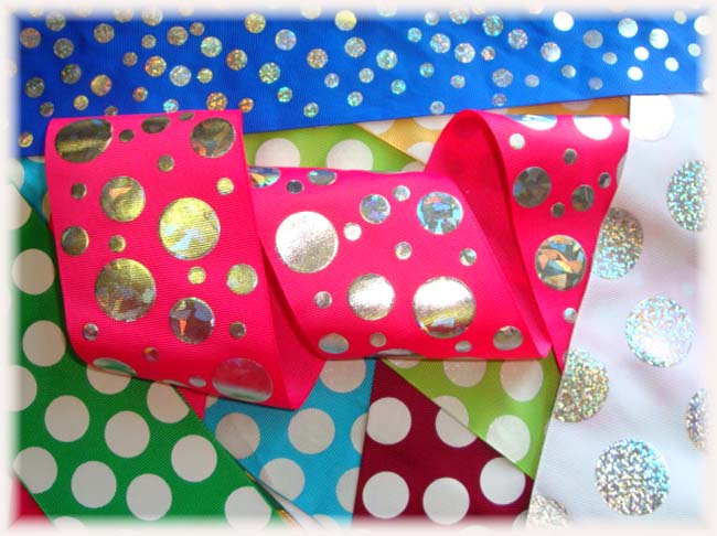 "OOAK JD3 GOODY BAG 3"" DOTS TICK TOCK REMNANTS - 5 YARDS"