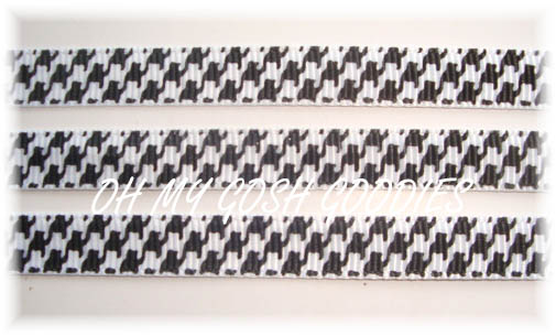 3/8 HOUNDSTOOTH BLACK/WHITE - 5 YARDS