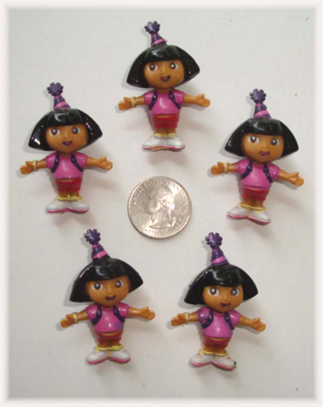 5PC DORA BIRTHDAY EMBELLISHMENTS