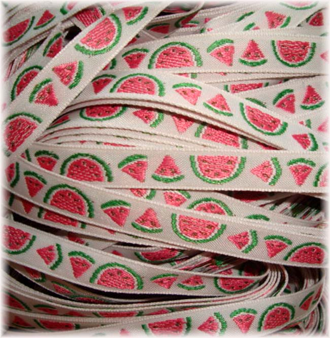 3/8 SALE WATERMELON JACQUARD - 5 YARDS
