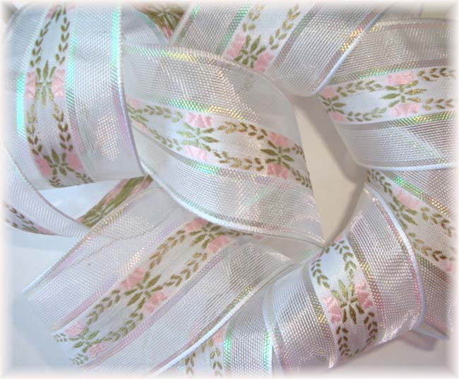 1.5 OOAK VENUS WIRED IRIDESCENT PINK FLORAL - 5 1/2 YARDS