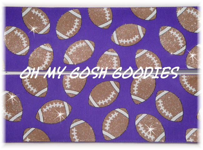 "3"" GLITTER FOOTBALLS PURPLE - 5 YARDS"