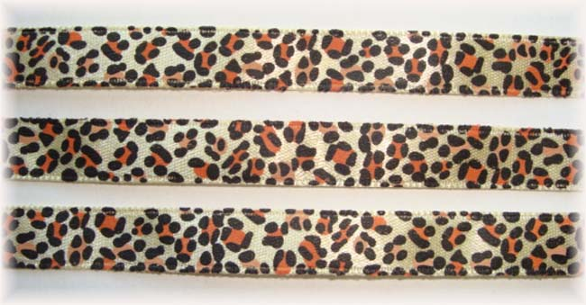 3/8 OOAK LEOPARD SATIN - 16 YARDS