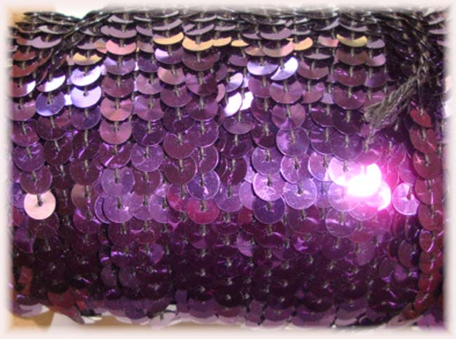 "* SHINY * GRAPE SINGLE SEQUIN STRAND 1/4"" - 10 YARDS"