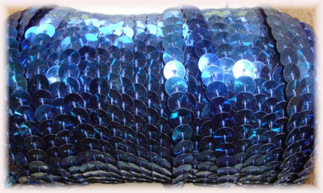 "NAVY SINGLE SEQUIN STRAND 1/4"" - 10 YARDS"