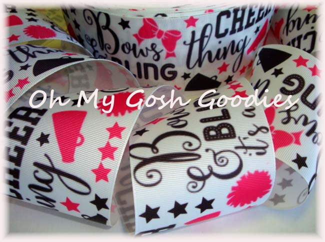 "3"" BOWS BLING CHEER THING  - 5 YARDS"