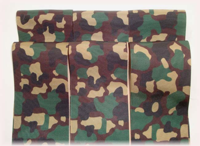 "OOAK DD23 GOODY BAG 3"" CAMO TICK TOCK REMNANTS - 5 YARDS"
