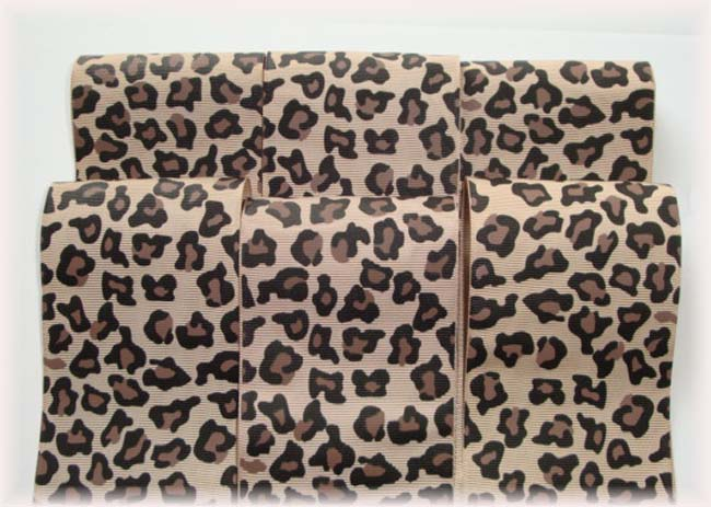 "OOAK LP22 GOODY BAG 3"" LEOPARD TICK TOCK REMNANTS - 5 YARDS"