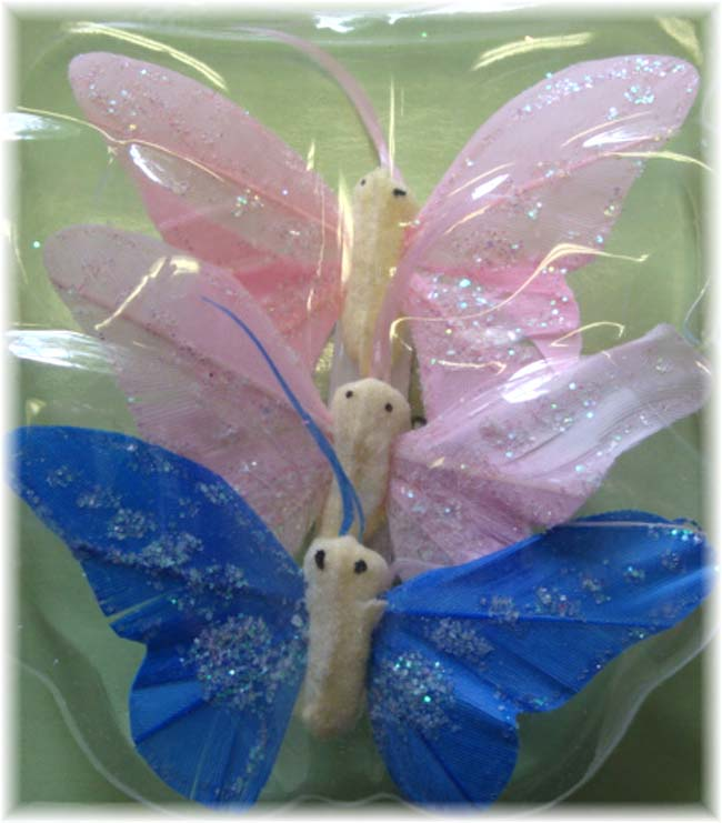 3 PIECE PASTEL BUTTERFLY EMBELLISHMENTS