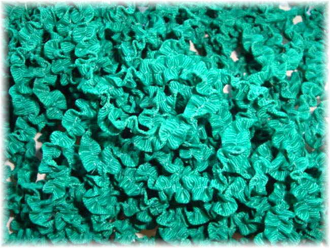 "ONE OF A KIND CR7 3/8"" OFFRAY JADE KRUNCHIE RIBBON - 10 YARDS"