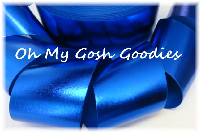 "3"" VINYL ROYAL METALLIC CHEER RIBBON - 5 YARDS"