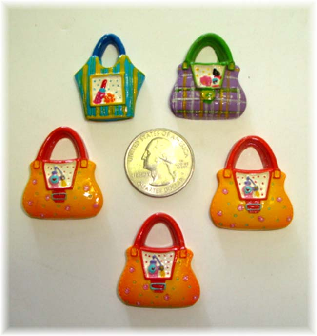 5PC OOAK ASSORTED PURSE RESINS