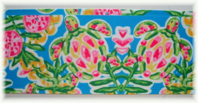 "3"" * IRREGULAR * DESIGNER PREPPY SEA TURTLES - 5 YARDS"