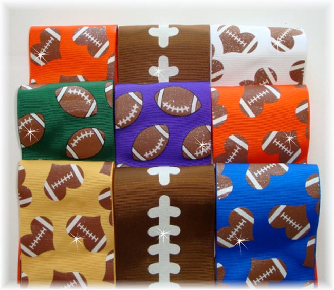 "OOAK CR8 GOODY BAG 3"" FOOTBALL TICK TOCK REMNANTS - 5 YARDS"