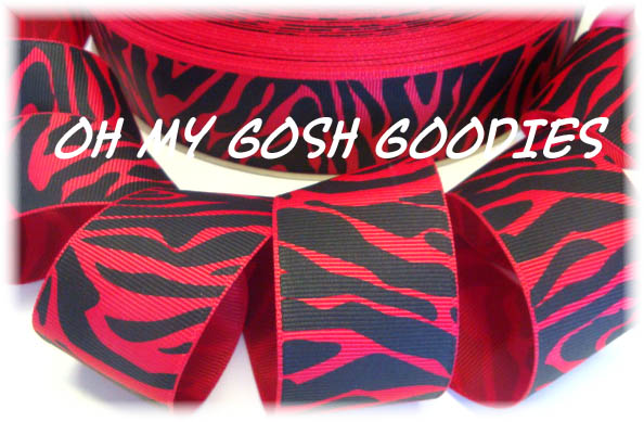 1.5 RED BLACK WILD ONE ZEBRA - 5 YARDS