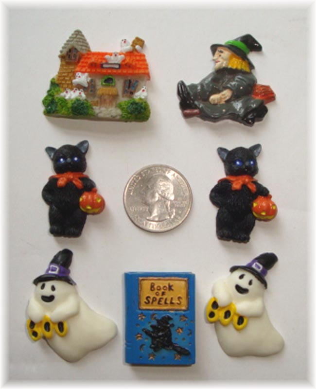 7PC OOAK HALLOWEEN ASSORTED RESINS