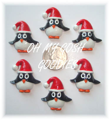 2PC HOLIDAY PENGUIN RESINS