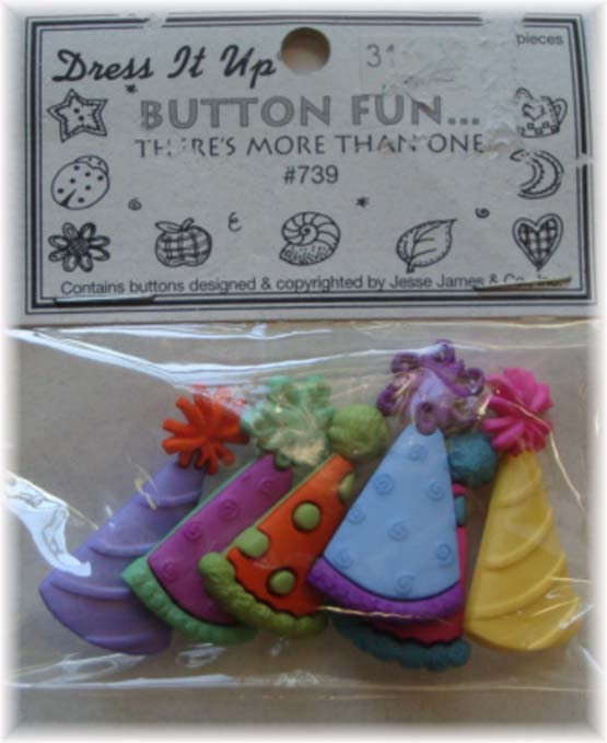 BIRTHDAY PARTY * PARTY HATS *  EMBELLISHMENTS DRESS IT UP