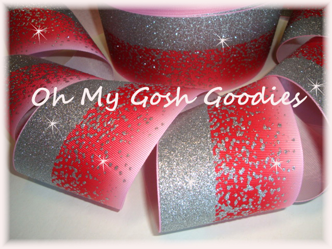 "3"" * DOUBLE * FROSTED GLITTER RED OMBRE CHEER - 5 YARDS"