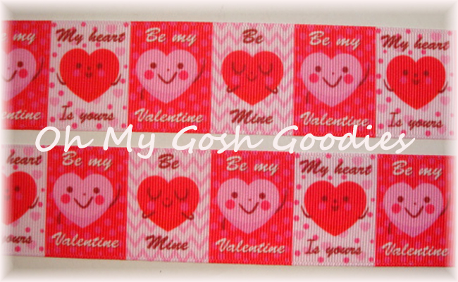 1.5 BE MY VALENTINE HEARTS - 5 YARDS