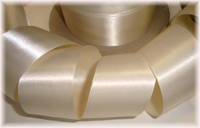 1.5 OFFRAY IVORY DOUBLE FACE WEDDING SATIN - 5 YARDS