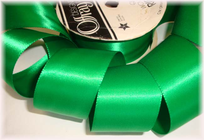 1.5 OOAK OFFRAY EMERALD DOUBLE FACE WEDDING SATIN - 7 2/3 YARDS