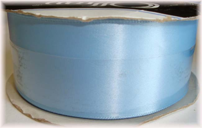 1.5 OFFRAY BLUE TOPAZ SINGLE FACE WEDDING SATIN - 10 YARD ROLL