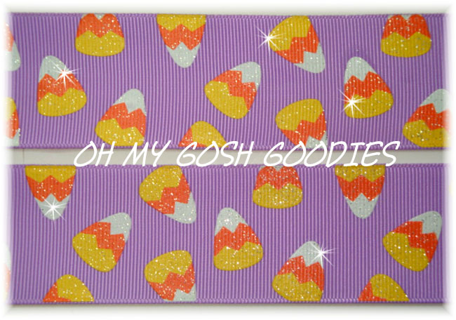 1.5 CANDY CORN GLITTER ORCHID - 5 YARDS