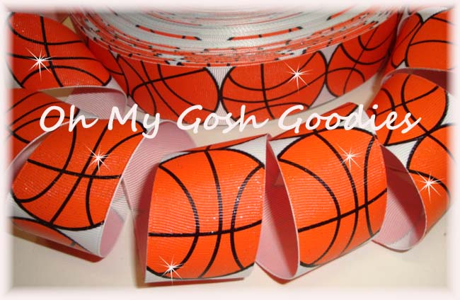 1.5 GLITTER BASKETBALL BLING - 5 YARDS