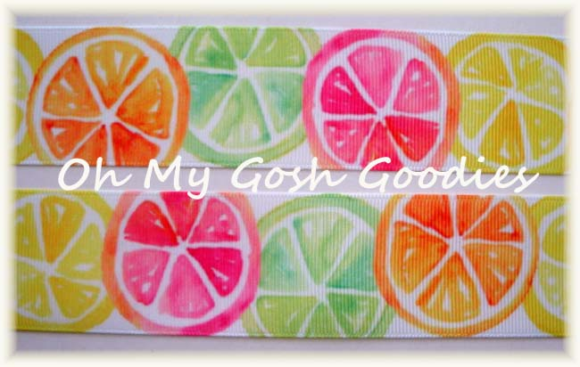 "1.5"" CITRUS SLICE SURPRISE - 5 YARDS"