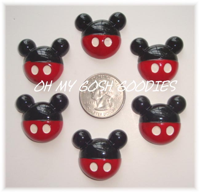2PC MICKEY RED PANT RESINS