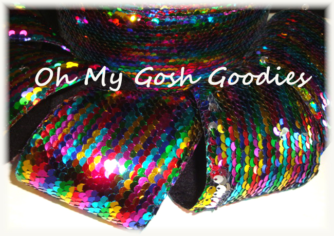 "3"" * RAINBOW * SHINY SEQUIN - 5 YARDS"