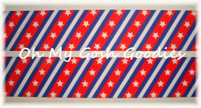 1.5 * CLASSIC DIAGONAL * PATRIOTIC STARS & STRIPES - 5 YARDS