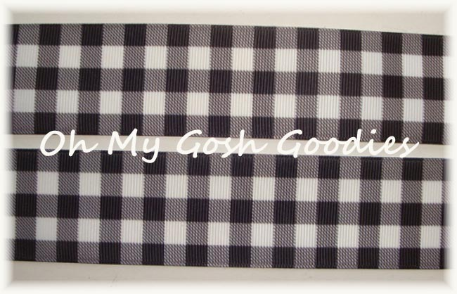 1.5 * CLASSIC * WHITE BLACK BUFFALO PLAID CHECK - 5 YARDS