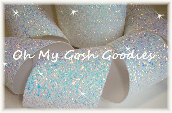 "3"" * CHUNKY * GLITTER SPARKLE WHITE - 5 YARDS"