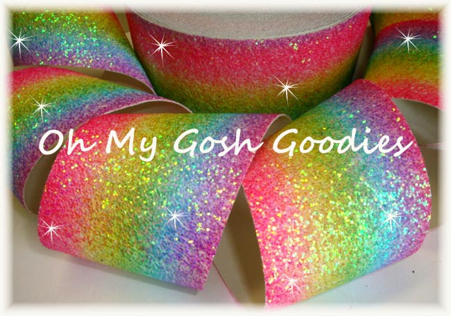 "3"" * CHUNKY * RAINBOW GLITTER SPARKLE - 5 YARDS"