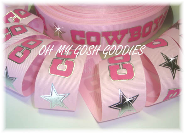 1.5 SILVER FOIL STARS PINK - 5 YARDS