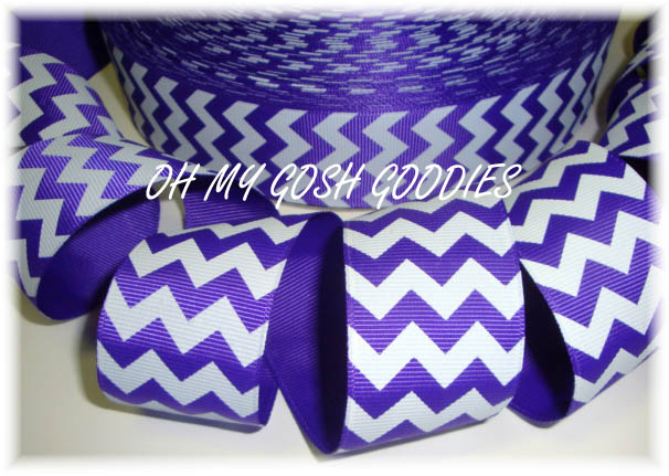 2 1/4 OOAK CHEVRON STRIPE PURPLE WHITE - 3 YARDS