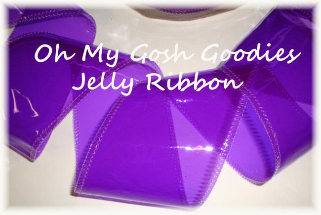 "3"" * PURPLE * JELLY RIBBON PLASTIC TRANSPARENT RIBBON - 5 YARDS"