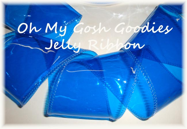 "3"" * ROYAL * JELLY RIBBON PLASTIC TRANSPARENT RIBBON - 5 YARDS"