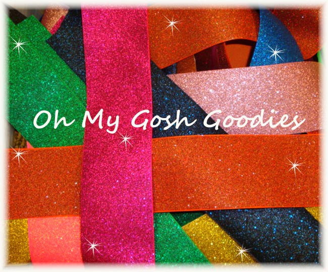 "OOAK RB2 GOODY BAG 3"" SUPER SPARKLE TICK TOCK REMNANTS - 5 YARDS"