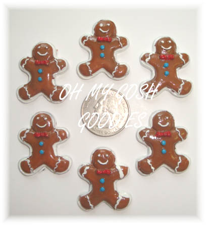 2PC GINGERBREAD BABY RESINS