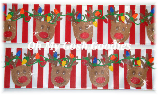 1.5 GLITTER REINDEER GAMES STRIPE - 5 YARDS