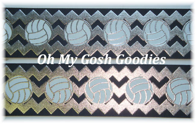 2 1/4 OOAK IRREGULAR VOLLEYBALL CHEVRON SILVER BLACK - 3 YARDS
