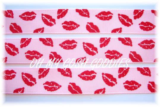 7/8 CLASSIC SMOOCHIE LIPS PINK - 5 YARDS