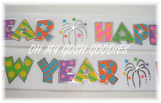 1.5 HAPPY NEW YEAR WHITE - 5 YARDS