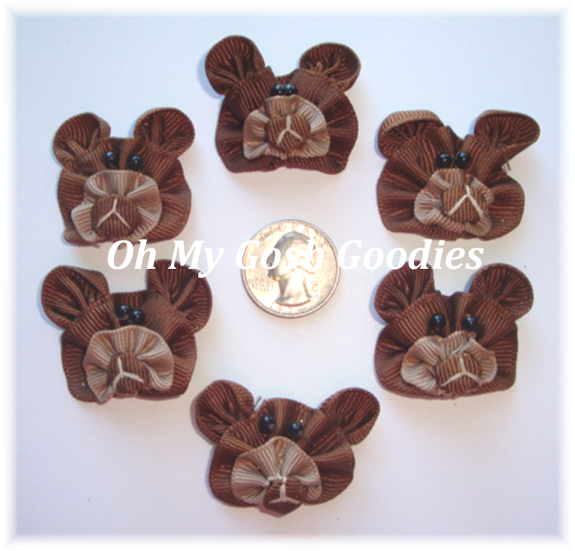 6PC OFFRAY BEAR EMBELLISHMENTS