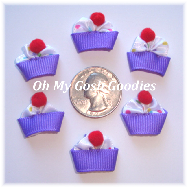 6PC OFFRAY CUPCAKE EMBELLISHMENTS