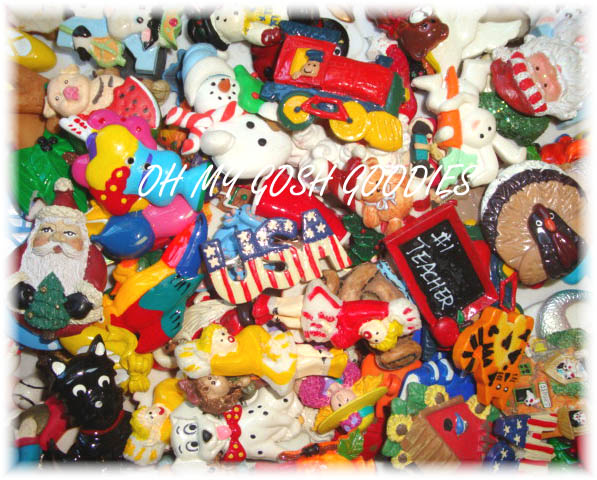 50PC SALE HAIRBOW RESIN CENTERS